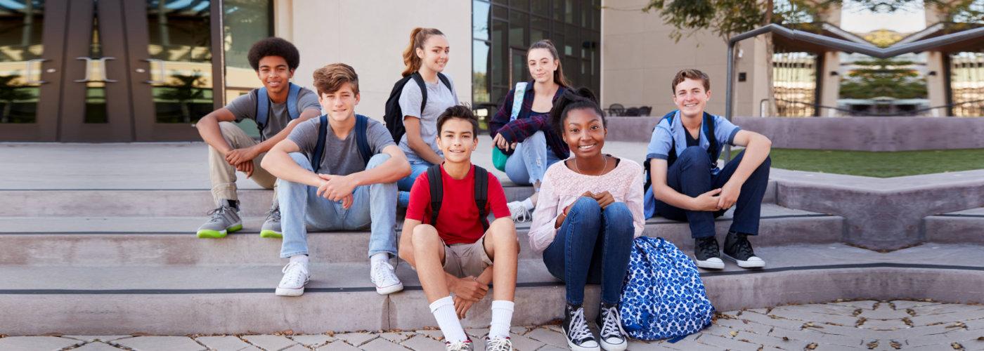 students sitting